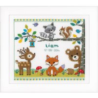 Counted Cross Stich Kit: Forest Animals