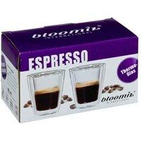 bloomix 2er Set Espresso-Gläser Milano doppelwandige Thermogläser Espressotassen je 80 ml, Geschenkverpackung