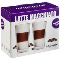 bloomix 2er Set Latte Macchiato-Gläser, Milano doppelwandige Thermogläser je 300 ml, Geschenkverpackung