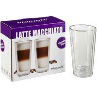 bloomix 2er Set Latte Macchiato-Gläser Milano Grande doppelwandige Thermogläser je 350 ml, Geschenkverpackung