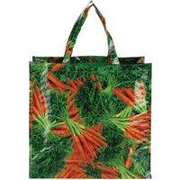 2 Stück Esschert Design Einkaufstasche, Allzwecktasche mit Motiv Karotten, ca. 45 cm x 15 cm x 42 cm