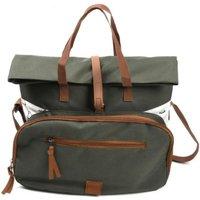 Esschert Design Picknick- Tasche 4 Personen aus Polyester/Nylon/Edelstahl/Eisen/Kunststoff, 38,6 x 21,8 x 33,5 cm, mit Camping-Besteck und Geschirr