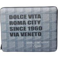 Eurotek Italia Laptop Tasche für bis zu 15,4 Zoll Laptops und Notebooks, mit Dolce Vita Schriftzug