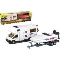 Happy People Motorhome-Wohnmobil mit Anhänger, ca. 36 cm