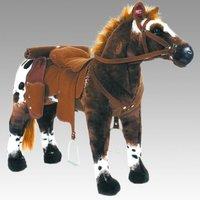 """Spielzeug Pferd """"Anglo-Araber"""", mit Sound, Sattelhöhe ca. 49 cm inkl. Putzbox befüllt für Kinder, lila und extra Sattel, braun"""