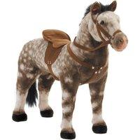 Happy People Spielzeug Pferd Apfelschimmel, mit Sound, Sattelhöhe ca. 52 cm + 2. Sattel mit Steigbügel & Zaumzeug