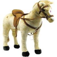 Happy People Spielzeug Pferd in beige, mit 3-fach Sound, Sattelhöhe ca. 50 cm