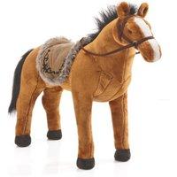 Happy People Spielzeug Pferd in rotbraun, mit Sound, Sattelhöhe ca. 55 cm