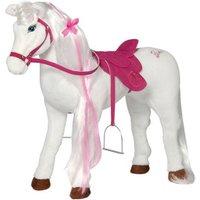 """Spielzeug Pferd Mattel Barbie-Pferd """"MAJESTY"""", mit Sound inkl. Putzbox befüllt für Kinder, lila und extra Sattel, braun"""