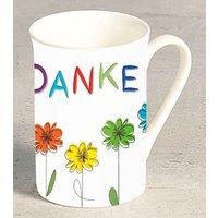"""Kesper Tasse mit """"Danke"""" Motiv, aus Porzellan, Fassungsvermögen ca. 250 ml, Ø 7,5 cm, Höhe 10,6 cm, spülmaschinengeeignet"""