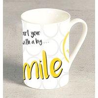"""Kesper Tasse mit """"Smiley"""" Motiv, aus Porzellan, Fassungsvermögen ca. 250 ml, Ø 7,5 cm, Höhe 10,6 cm, spülmaschinengeeignet"""