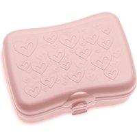 Koziol Lunchbox SUSI, mit Herzchenmotiv, Kunststoff, für Obst und Brotzeit, Auf Reisen, im Büro, mit Clipverschluss, spülmaschinengeeignet, pink
