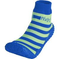 Playshoes Aqua-Socke Streifen blau/grün, Größe: 30/31