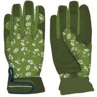 2 Stück Rivanto® Damen- Gartenhandschuhe gemustert Größe M, Pflanz- und Bodenhandschuhe für Garten und Beet, Arbeitshandschuhe, atmungsaktiv