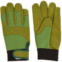 3 Stück Rivanto® Gartenhandschuhe Griff & Schutz Größe L, Bodenhandschuhe für Garten und Beet, Arbeitshandschuhe mit Klettverschluss, atmungsaktiv