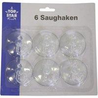 TOP STAR - Saughaken klar Schwenkhaken 6 Stück 5,5cm
