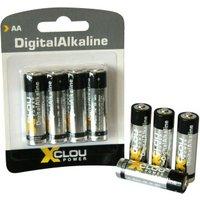 XCLOU POWER Batterie Alkaline Ultra Power AA Mignon, 4 Stück LR6