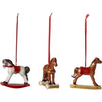 Villeroy & Boch Nostalgic Ornaments Rocking Horses Ornaments, Set of 3 | 1483316665 - Ornaments Gifts