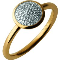 Links of London Diamond Essentials Gold Round Pave Ring, Size N | 5045.5493 - Charity Gifts