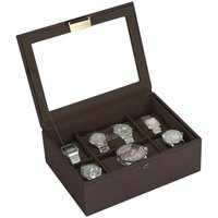 stackers tobacco brown 8 piece watch box | 73226