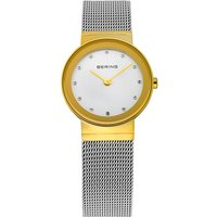 Bering Ladies' Steel Mesh Gold Shiny Watch | 10126-001 - Shiny Gifts