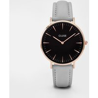 cluse la boheme rose gold, black and grey watch | cl18018