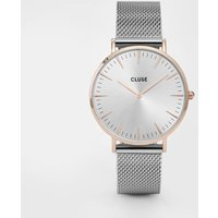 cluse la boheme mesh rose gold and silver watch | cl18116