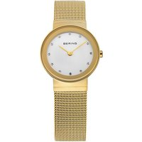 Bering Ladies' Steel Mesh Gold Shiny Watch | 10126-334 - Shiny Gifts