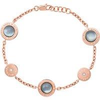 Michael Kors Mother Chain Grey & Rose Gold Bracelet | MKJ586