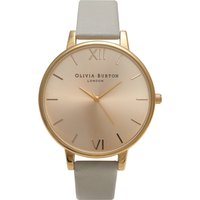 olivia burton big dial grey and gold watch | ob14bd33