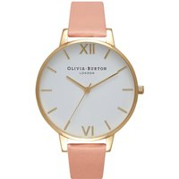 olivia burton big dial dusty pink and gold watch | ob16bdw13