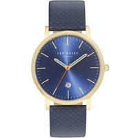 ted baker unisex graham gold and navy watch | te10031494