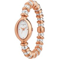 links of london sweetheart stainless steel and rose gold tone bracelet watch | 6010.2150