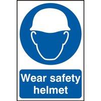 Notice Wear Safety Helmet