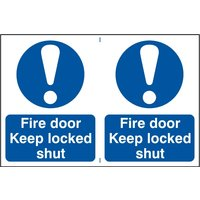 Notice Fire Door Keep Locked