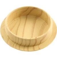 Set of 4 Non-Slip Wooden Castor Cups 44mm