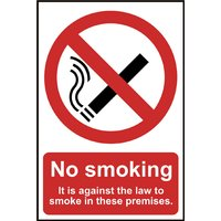 Notice No Smoking It Is Against The Law