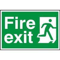 Notice Fire Exit (Man Running Right)