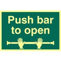 Push Bar To Open Glow In The Dark