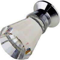 Crystal Glass Fluted Cupboard Knob 16x30mm