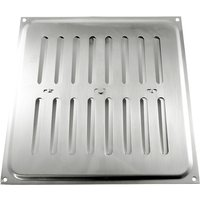 Brushed Stainless Steel Hit and Miss Vent 210x229mm