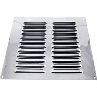 Chromed Slotted Vent 229x229mm