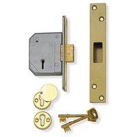 Assa Abloy Deadlock 5 Lever BS3621 Brass 3G114E