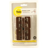 Yale Window Security Lock Brown Pack of 4