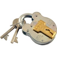1.5in Galvanised Traditional Style Padlock 4 Lever