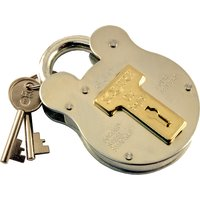2.5in Galvanised Traditional Style Padlock 4 Lever