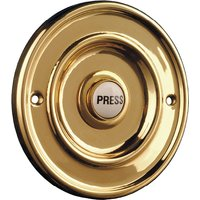 Circular None Tarnish Brass Door Bell 63mm