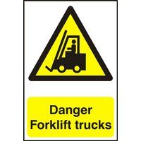 Notice Danger Fork Lift Trucks