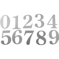 51mm Adhesive Silver Door Numbers and Letters