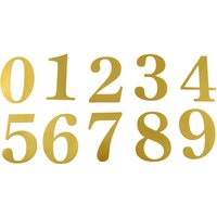 51mm Adhesive Gold Door Numbers and Letters